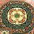 Круглый коврик с орнаментом