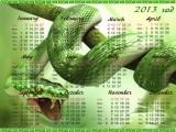 Календарь на 2013 год Год змеи - Бросок