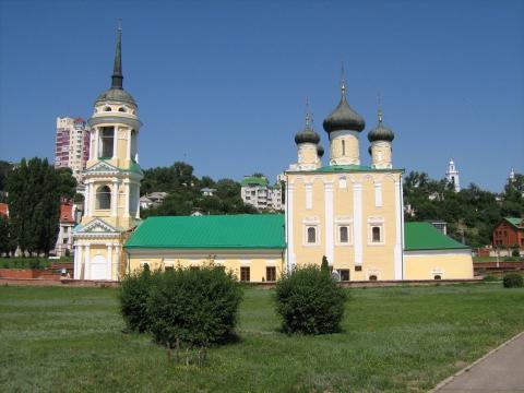Адмиралтейский храм на набережной, город Воронеж
