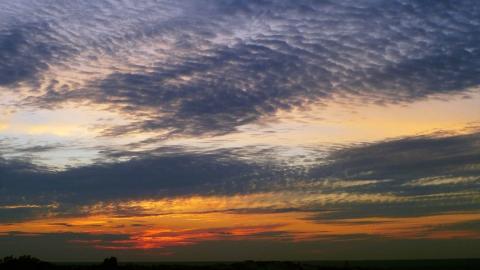Закат с перистыми облаками  - Александр Владимирович Серолапкин