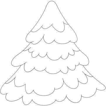 Раскраска елка - 3