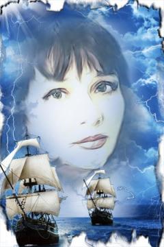 Обложка одной из книг моих стихов `Любви небеса` - Тамара Фёдоровна Москаленко