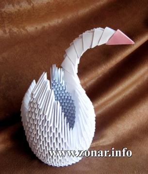 ...Классный Паук оригами из двух модулейВаше имя модульное оригами лебедь из треугольных модулей - схема сборки.