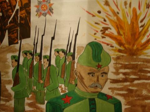 Защитники Отечества - Рисуют дети