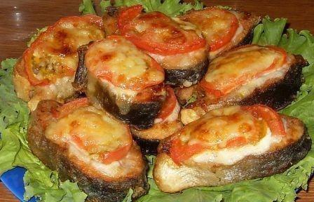 рыба с помидорами под сыром - Ольга Николаевна Козина