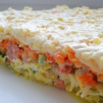 слоёный салат с грибами - Ольга Николаевна Козина