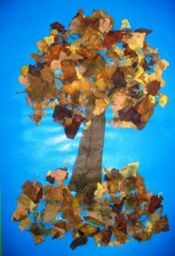 Дерево - Осенние забавы.