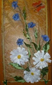 картина `Цветы из ткани` 17/11/2012 - Людмила Сергеевна Гончарова