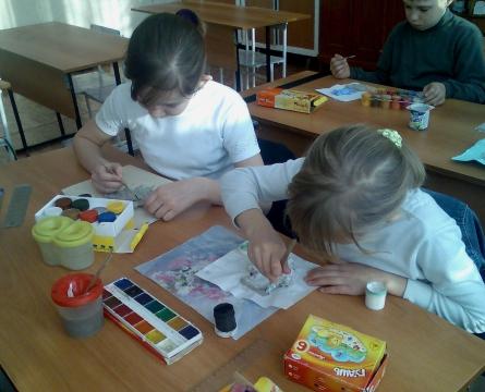 На уроке рисования - Людмила Алексеевна Посадская