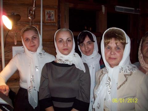 на клиросе ( Рождество 2012 г) - Марина Валентиновна Любакова