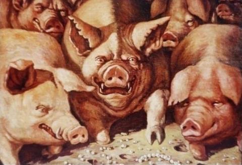 метать бисер перед свиньями происхождение - О том, как плести бисером.