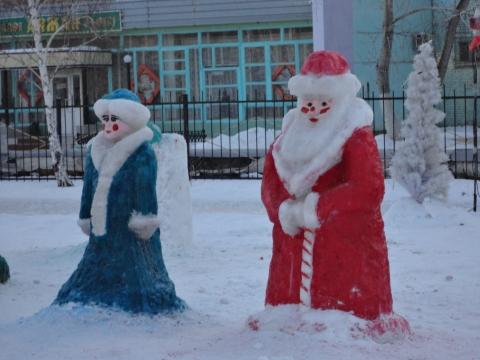 Фигурки из снега своими руками на новый