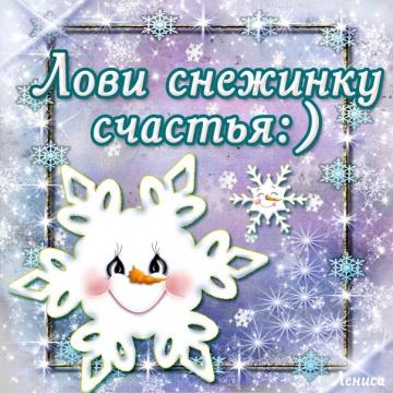 Лови снежинку счастья