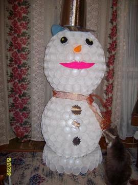 Сделать большого снеговика своими руками фото