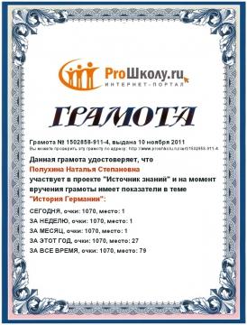грамота-1 - Наталья Степановна Полухина