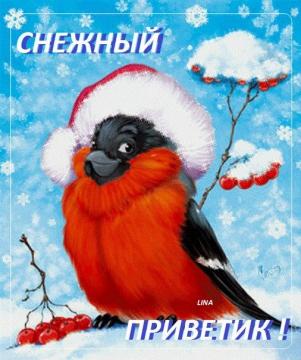 Снежный приветик :-)