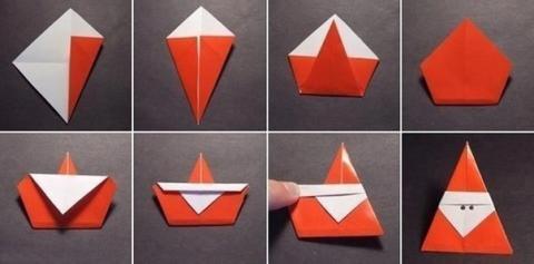 Дед Мороз - оригами - Ольга Николаевна Козина.