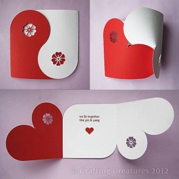 сердечная открытка-конверт - Ольга Николаевна Козина