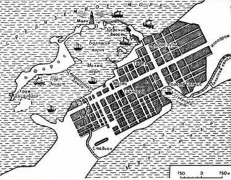 Карта - план города Александрия Египетская.