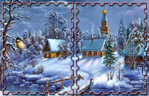 Обложка Новогодней открытки - Ярмарка Соц.Мастеров России