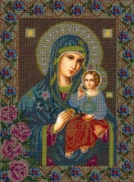Богородица `Неувядаемый цвет` - Ярмарка Соц.Мастеров России