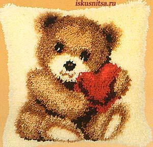 Мишка с сердечком - Ярмарка Соц.Мастеров России