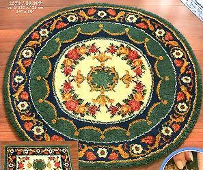 Круглый коврик с орнаментом - Ярмарка Соц.Мастеров России
