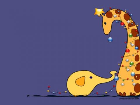Новогодний жираф