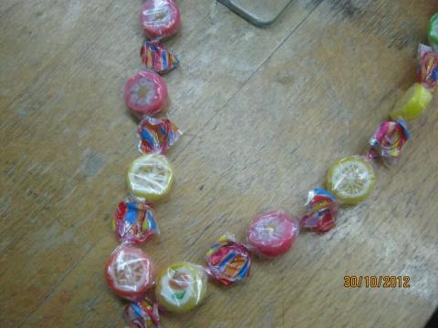 Бусы своими руками из конфет