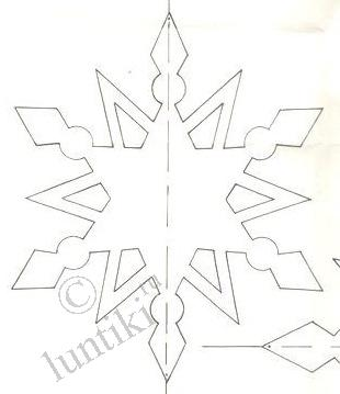 Новогодние объёмные снежинки из бумаги  схемы шаблоны