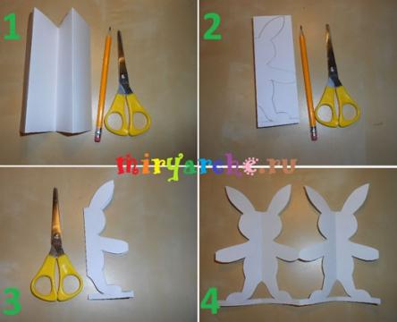 симметричное вырезание из бумаги.