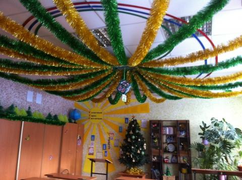 Украшаем потолок на новый год своими руками