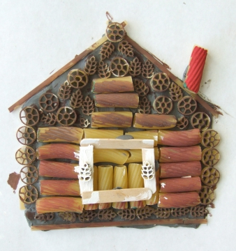 Домик из макарон своими руками фото
